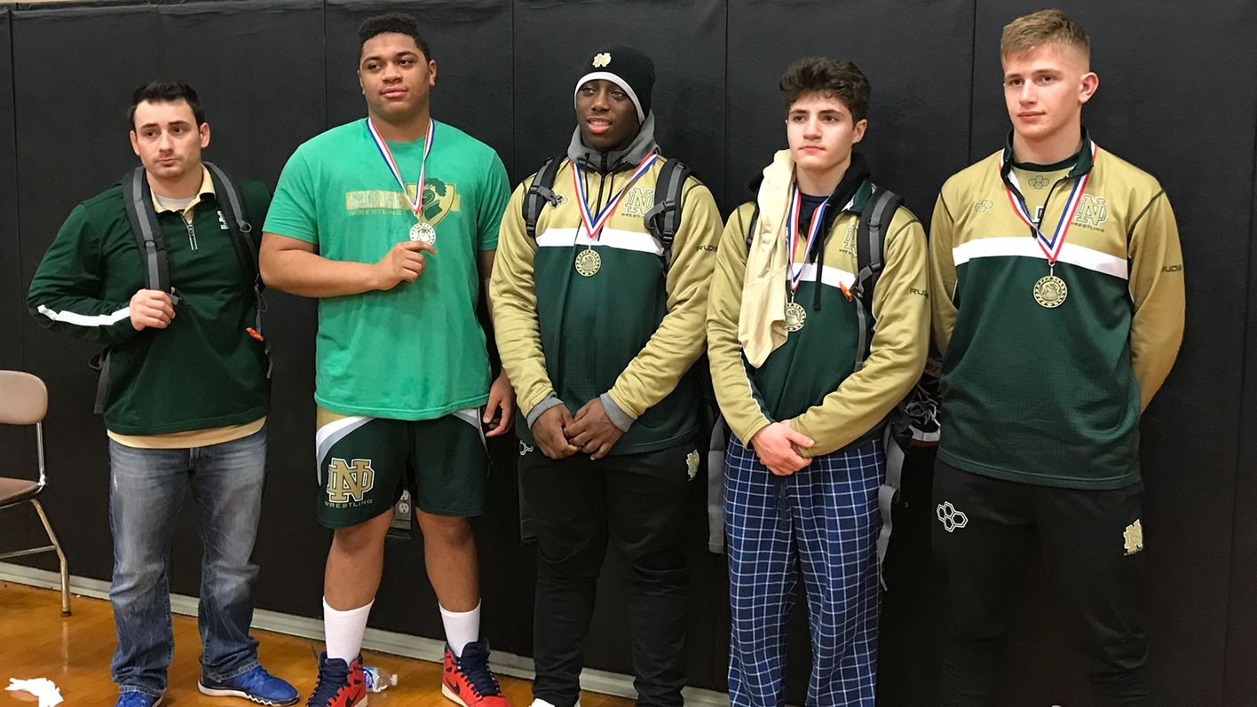 Wrestlers Place Third at Rodney Smith Invitational - Notre